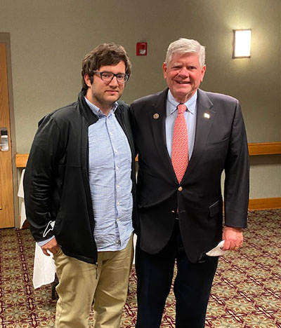Daniel with successful dairy owner, financial services expert, and fmr. State Senator Jim Oberweis
