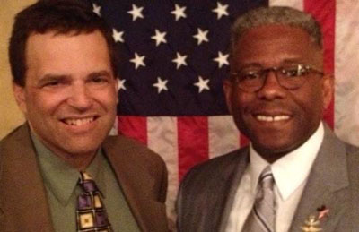 Jon Zahm with Texas Republican Party Chairman, and Ret. Army Lt. Colonel Allen West